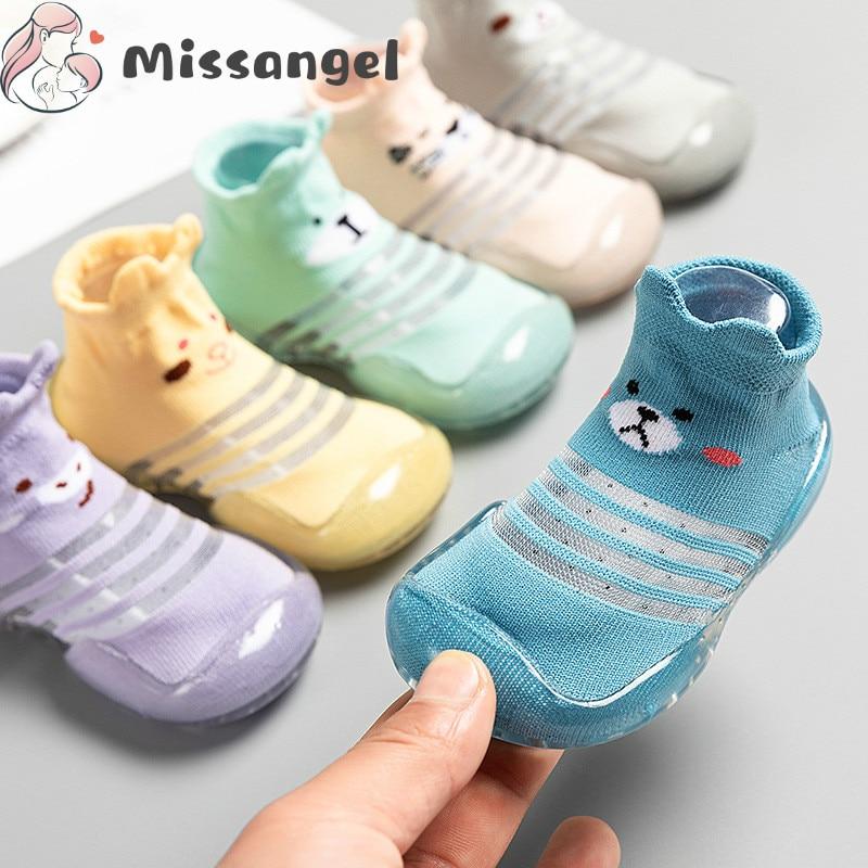Children Anti-slip Shoes Newborn Baby Girl Cotton Non-slip Floor Socks Baby Boy Rubber Sole Cartoon Indoor Socks Infant Shoes 2