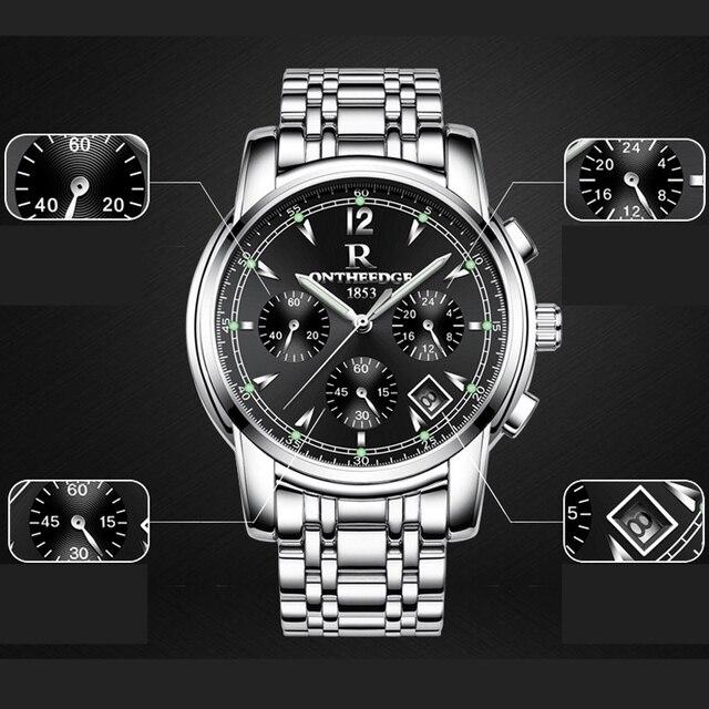 Фото часы наручные мужские кварцевые многофункциональные брендовые