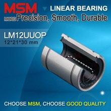 8 pçs/lote MSM Tipo Aberto Rolamento de Movimento Linear LM12UUOP 12mm Bola Bucha Deslizante Do Eixo Peças CNC Trilho SBR 12x21x30 LM12UU OP