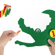 T-N Handmade Felt Crocodile Clip Tooth Extraction Numbers 1-10 For Kids Learning Child Early Teaching Nonwoven DIY Package Toys(China)