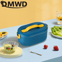 DMWD 220V Lunch Box Food Container Portable Electric Heating Food Warmer Heater Rice Container Dinnerware Sets For Home Dropship