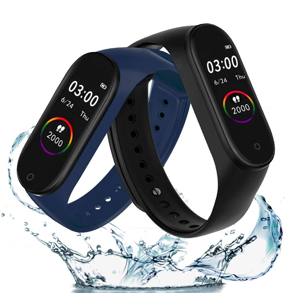 M4 Smart Bracelet Bluetooth Heart Rate Smart Wristband Monitor Blood Pressure Fitness Tracker Smartwatch Waterproof Sports Watch