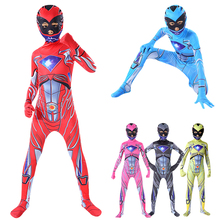 Tight-Costumes Jumpsuit-Mask Dress-Up Dinosaur-Team Role-Play Anime Party Halloween Super-Power