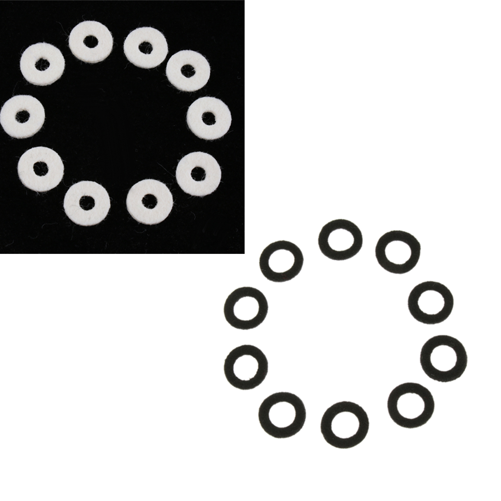 Pack Of 20 Black+White Trumpet Felt Washers Cushion Protector DIY