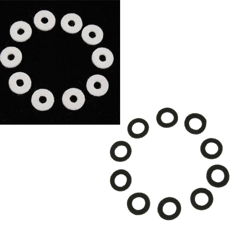 Pack Of 20 Black+White Trumpet Felt Washers Cushion Protector DIY