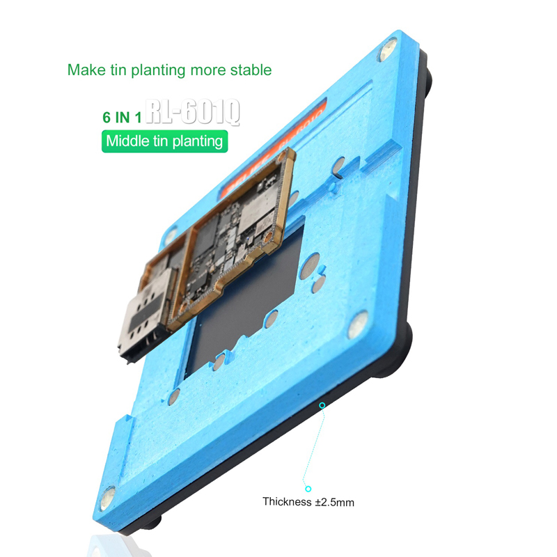 home improvement : RELIFE 6 in 1 BGA Reballing Stencil Kit for iPhone X XS XS MAX 11 11Pro 11Pro MAX Motherboard Middle Frame Tin Planting Fixture