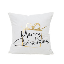 New creative golden Christmas sofa cushion cover no inner coussin decoratif hot stamping covers for home dec X28