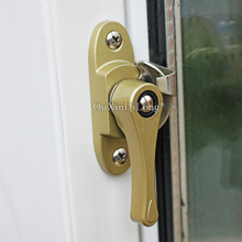 Free Shipping 2PCS Security Lock Sliding Door and Window Handle Locking Latch Catch Lock Baby Safety Protect Lock