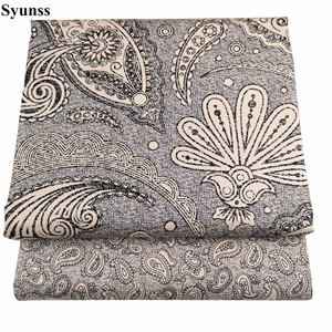 Syunss New Gray Floral Print Cotton Fabric Tilda for Diy Patchwork Quilting Baby Cribs The Cloth Cushions Blanket Sewing Tissus