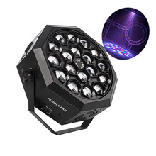 Lumière de scène professionnelle à tête mobile 18x12W RGBW 4 en 1, éclairage tourbillon avec faisceau lavage pour DJ, éclairage de danse d'anniversaire