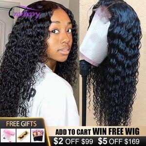 Парик из натуральных волос с креплением 4X4, парик с глубокими волнами, парик из перуанских волос на сетке, парик из 100% натуральных человеческ...