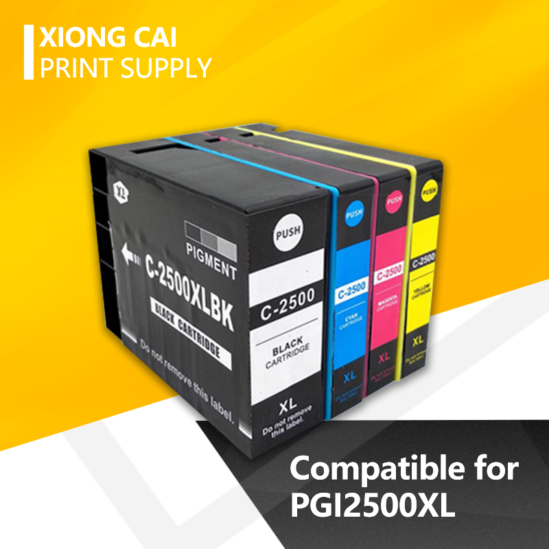2 Set/3 Set/ 1set Plus 1Bk PGI2500XL  PGI 2500xl Compatible Ink Cartridge For Canon MAXIFY IB4050/Ib4150/MB5050/MB5150/MB5350/54
