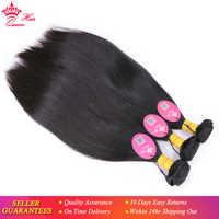 Peruvian Virgin Straight Hair Weaving Natural Color 100% Unprocessed Human Hair Weft Bundles Deal Free Shipping Queen Hair