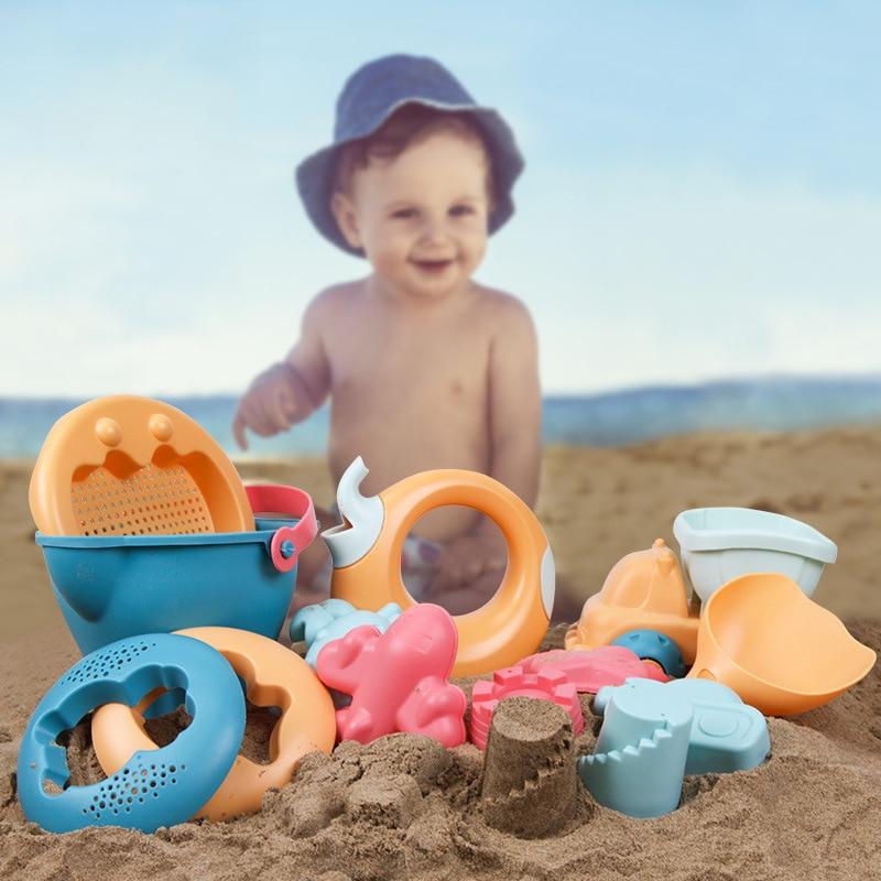 Children Beach Toys 5-14pcs/set ABS Plastic Sandbox Play Sand Snow Kids Sand Game Safe Cute Toy Children Summer Water Toys