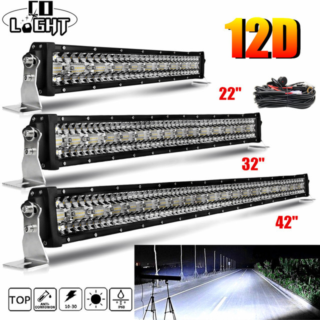 "CO LIGHT NEW 22 32 42 50"" 52"" OFFROAD LIGHT BAR 390W 585W 780W 936W 975W LED WORK LIGHT SPOT FLOOD COMBO BAR DRIVING LAMP"