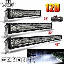 """Światło CO nowy 22 32 42 50"""" 52 """"listwa oświetleniowa do samochodów terenowych 390W 585W 780W 936W 975W LED SPOT oświetleniowy powódź COMBO BAR lampa do jazdy"""