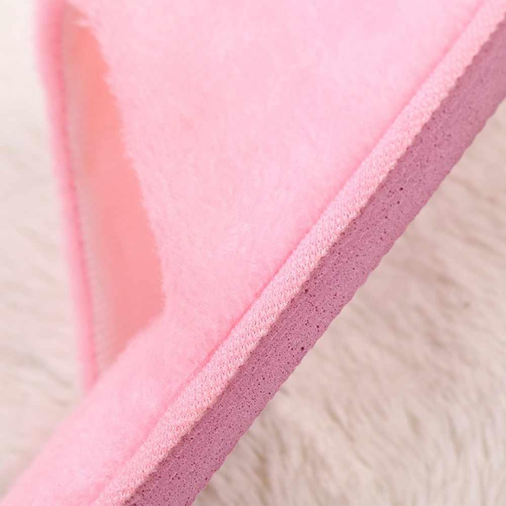 スリッパ女性 2019 屋内ハウスぬいぐるみソフトかわいい綿のスリッパの靴ノンスリップ床ホームスリッパ女性のためのスライド寝室