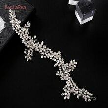 TOPQUEEN tiare et couronne en cristal, coiffure de mariage avec strass, bandeau pour femmes, HP259