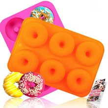6-Cavity Silicone Donut Baking Pan Mold DIY Doughnut Cake Bakeware Moulds Chocolate Decoration Bagels Pastry Tool