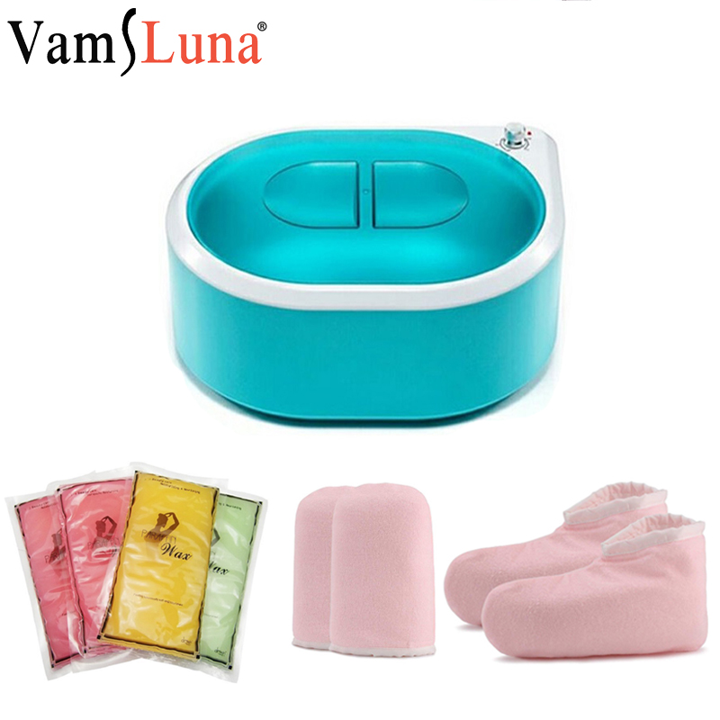 Paraffin Wax Heater Machine Bath For Hand Foot Warmer Heat Therapy With Mitts And Bootie Continuous Hydrating White Hand
