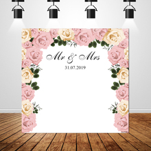 Sxy1536 Flower Backdrops Background Poster Banner Custom Name Photography Photo Vinyl Wedding Party Decoration 150x220cm