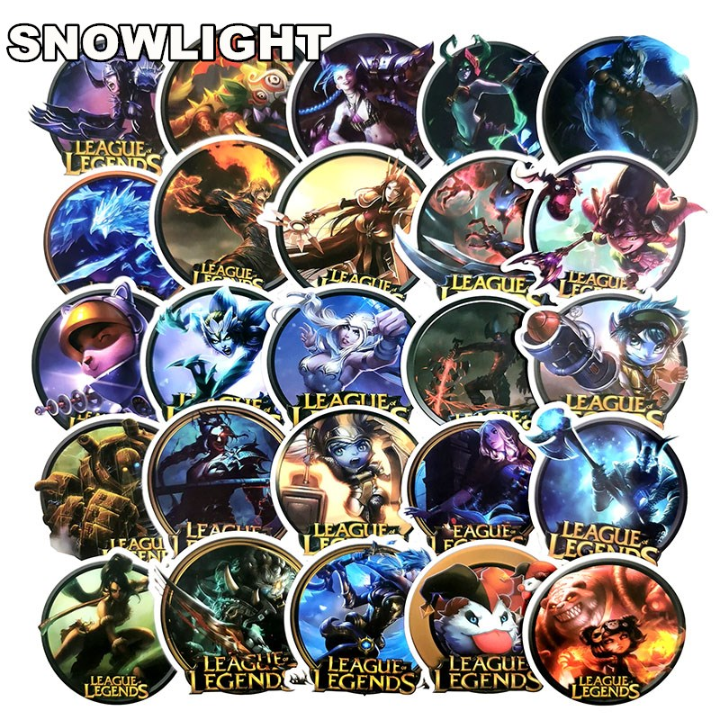 100pcs League Legends Game Stickers Anime Pegatina For Children For Laptop Fridge Phone Skateboard Suitcase Funny Cool Sticker
