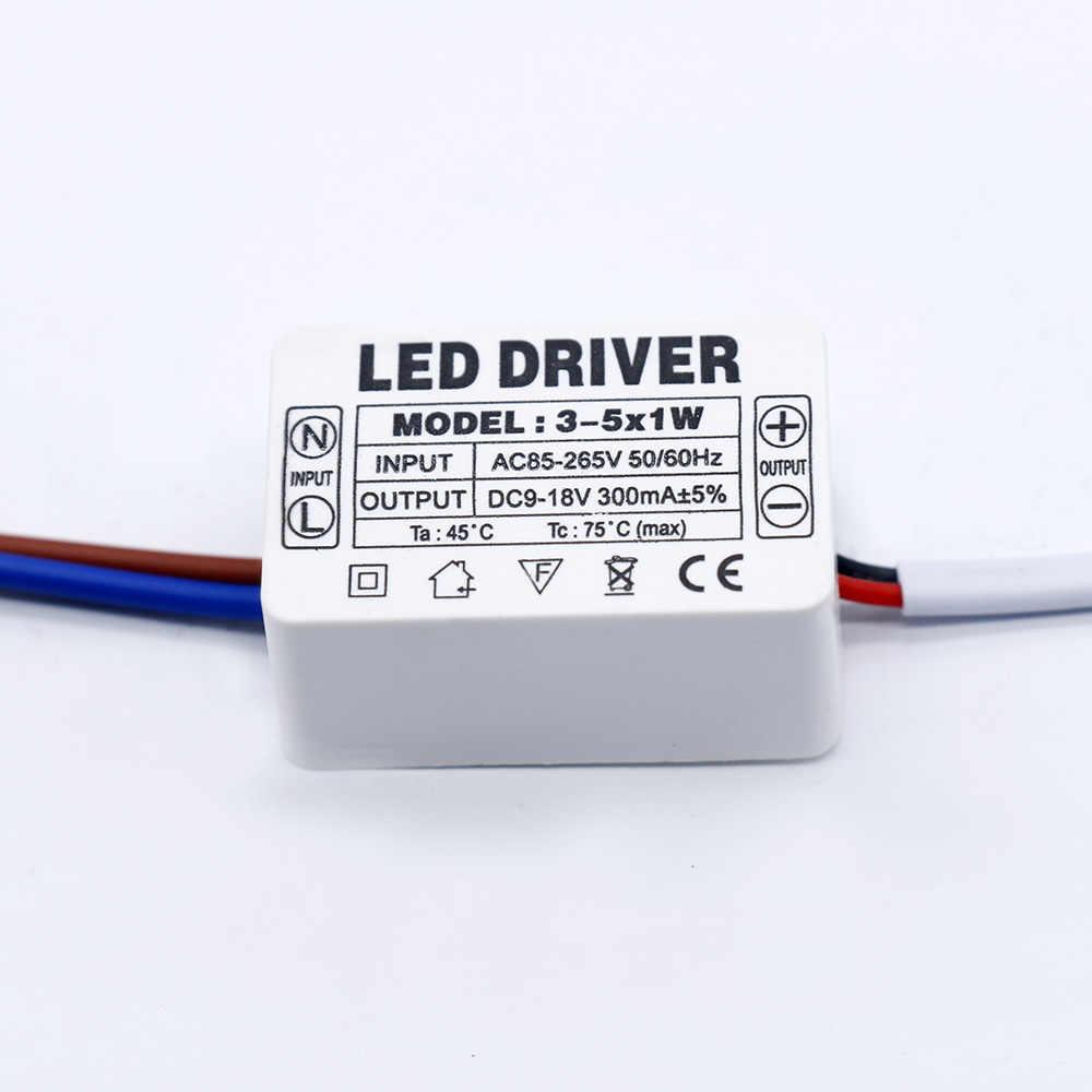 LED sürücü 300mA 1-3W 3-5W 4-7W 8-12W 12 -18W 18-25W 25-36W LED güç kaynağı ünitesi 350mA AC90-265V için aydınlatma Transformers led
