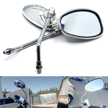 Universal 10mm motorcycle rear view mirror oval rear view mirror for BMW K1600 K1200R K1200S R1200R R1200S R1200ST R1200GS image