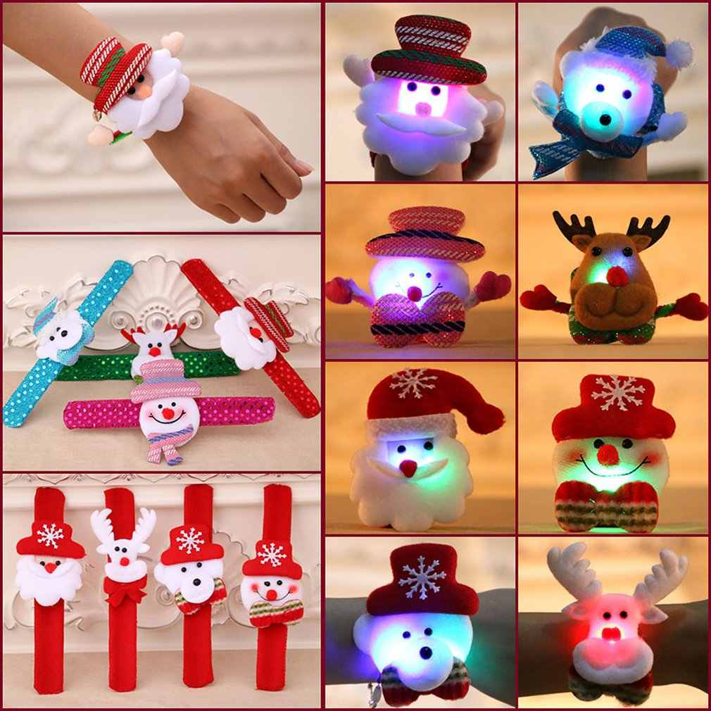 Natal Dekorasi Anak Hadiah Natal Bersinar Tangan Lingkaran Natal Busur Luminous Tangan Lingkaran