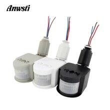 Light-Switch Timer Sensor Movement-Detector Wall-Mount PIR Outdoor LED 12V 220V 110V