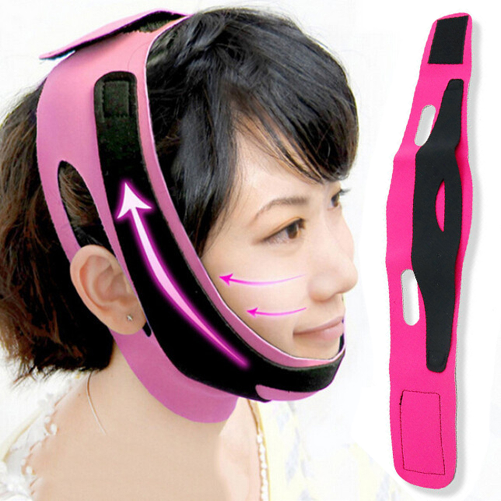 1PC Double Chin Face Bandage Slim Lift Up Anti Wrinkle Mask Strap Band V Face Line Belt Women Slimming Thin Facial Beauty Tool