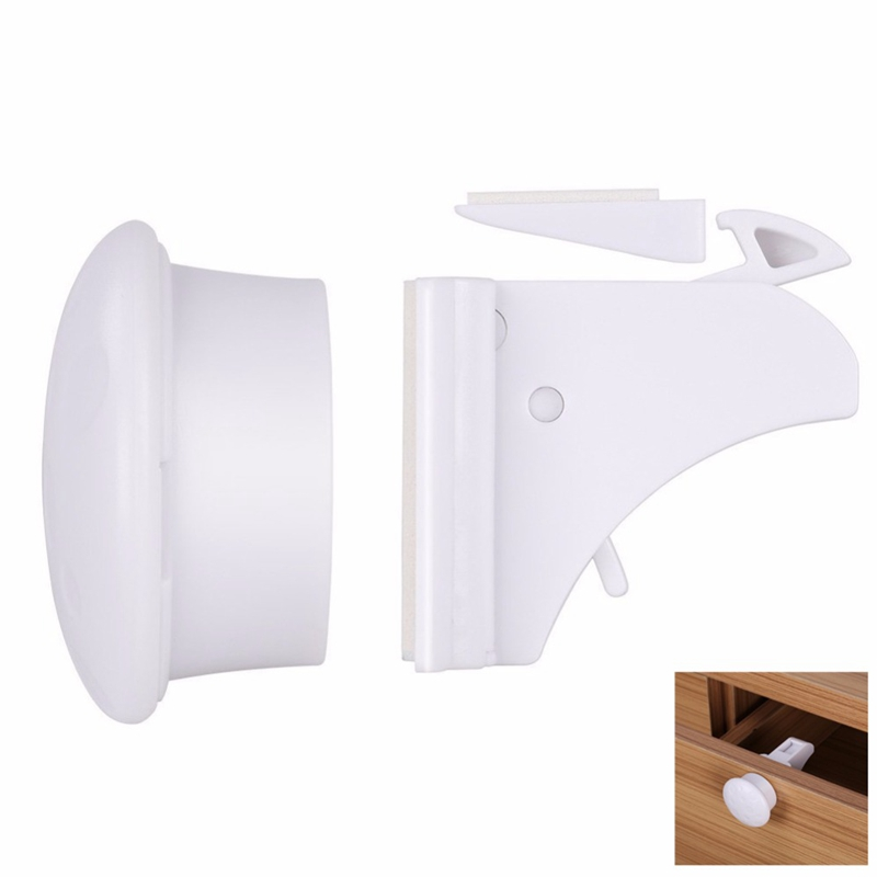FBIL-Magnetic Child Lock Baby Protection Baby Protection Cabinet Door Lock Children Drawer Storage Cabinet Protection Invisible