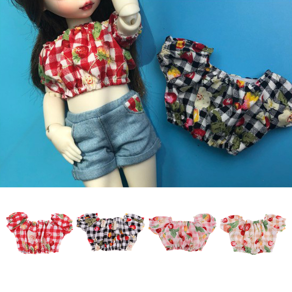Casual Short Sleeved T-shirt Tops Off Shoulder Tops For <font><b>1/6</b></font> <font><b>Bjd</b></font> Ball Jointed Dolls Outfit <font><b>Clothes</b></font> Garment Accessories image