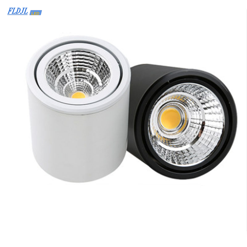 1 Dimmable LED Downlight COB Spotlight AC85-265V 5W 7W 9W 12W 15W 20W 30W Aluminum Surface Mounted Lamp Indoor Lighting