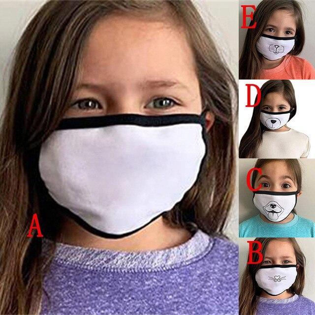 Korean Lovely White Dust Mask Kawaii Cotton Mouth Mask Cute Unisex Cartoon Mouth Muffle Face Mask Bear Mask0813 1