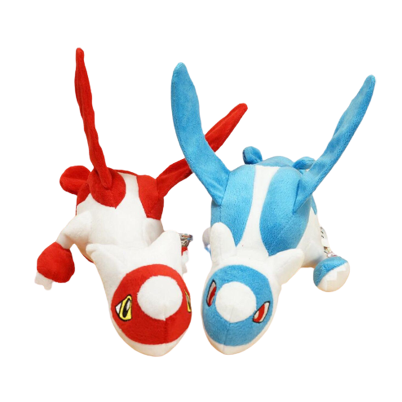 Latios Latias Dragon Plush Toys Blue Red Combination Cool Stuffed Doll Flying Elf Christmas Gifts For Children
