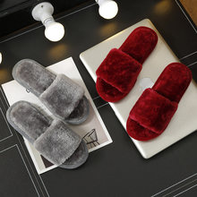 купить Non-slip Faux Fur Winter Women Slippers Home Female Comfort Floor Women Shoes Cotton Ladies Indoor Slippers Plush Slipper Unisex по цене 319.14 рублей