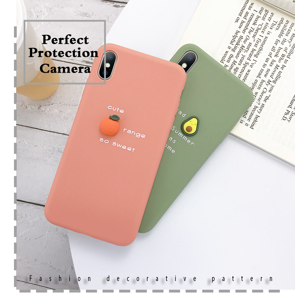 perfect protection camera 3D Candy Color Soft Phone Case for iPhone