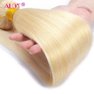 30 32 дюймов 613 блонд пучки человеческих волос Плетение прямые волосы пучки бразильские волосы плетение пучки 100% человеческие волосы для нара...