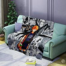 3d anime impresso voleibol menino macio flanela cobertor única rainha rei quente tranças para camas mantas de cama thow cobertores sofá