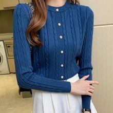 Корейский женский свитер Женский вязаный с длинным рукавом повседневный
