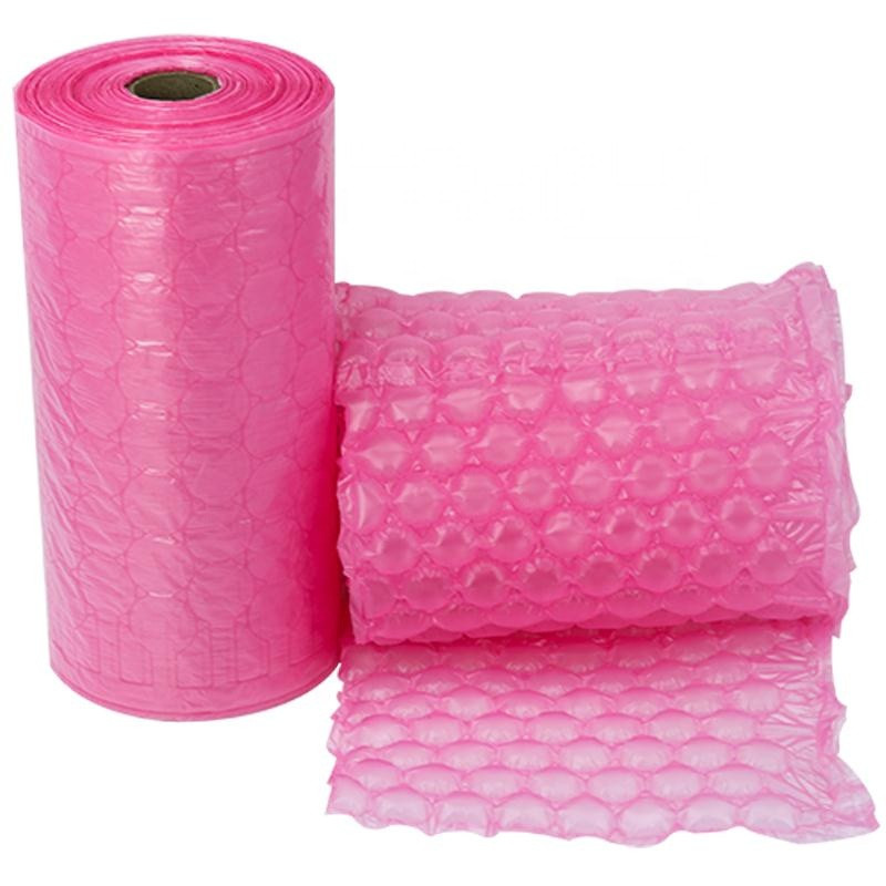 Bubble Roll Inflatable Filled Air Cushion Film Bag Green Roll Protective LDPE Shock-Proof Plastic Wrap Can Customized Wholesale