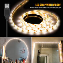 USB 5V Makeup Light LED Vanity Mirror Lamp Led Hollywood Dressing Table Mirror Lights Warm White Cold White Cosmetic Lighting