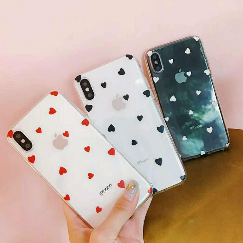 Lovebay Love Heart для iPhone 6 6s 7 8 Plus X XR XS Max 11 Pro Max 5 5S SE, чехол для телефона с милым мультяшным волнистым узором, прозрачный мягкий ТПУ для iPhone X