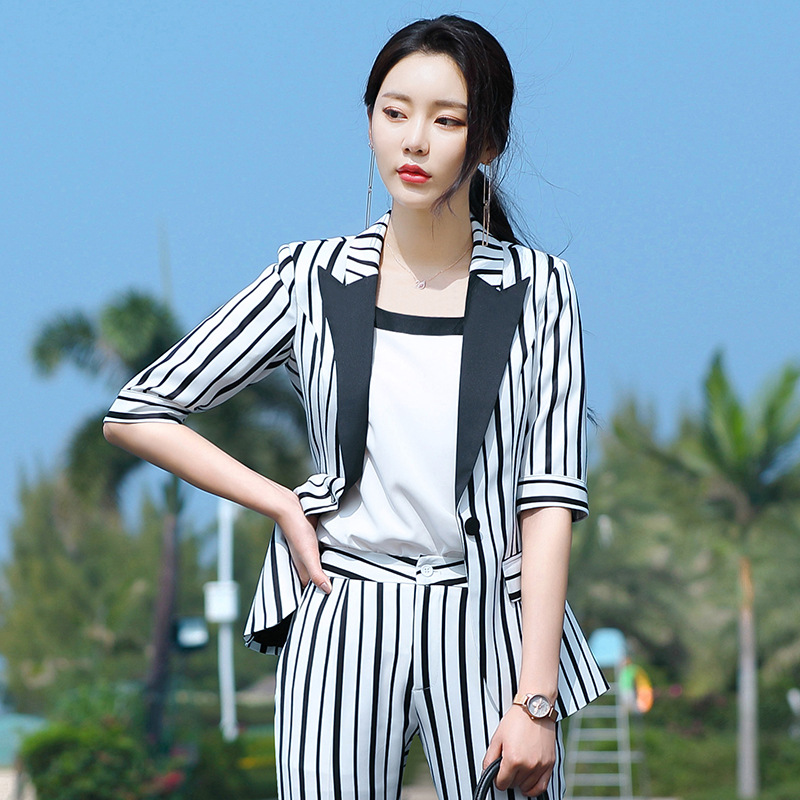 2020 New Female Formal Elegant Women Office Lady Pant Suits Of Business OL Blazer Suit Jackets Length Trouser Two Pieces Set