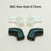 QDC 2 פין 0.75mm אוזניות מחברים זהב מצופה אודיו תקע מתאם HiFi אוזניות Minijack להלחמה DIY 0.75 אוזניות כבל