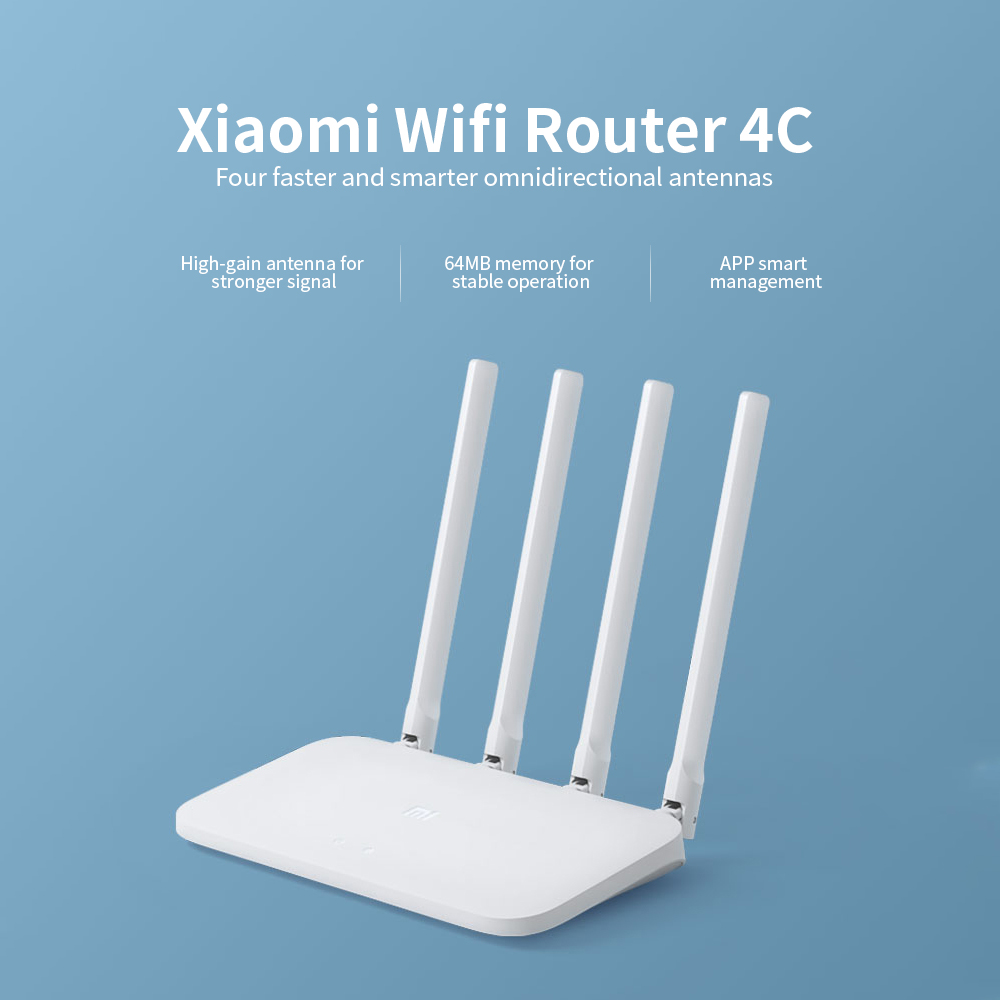 Xiao mi mi WIFI Router 4C Roteador APP Control 64 RAM 802,11 b/g/n 2,4G 300 mbps Router 4 Antennen Router Wifi Repeater für Hause