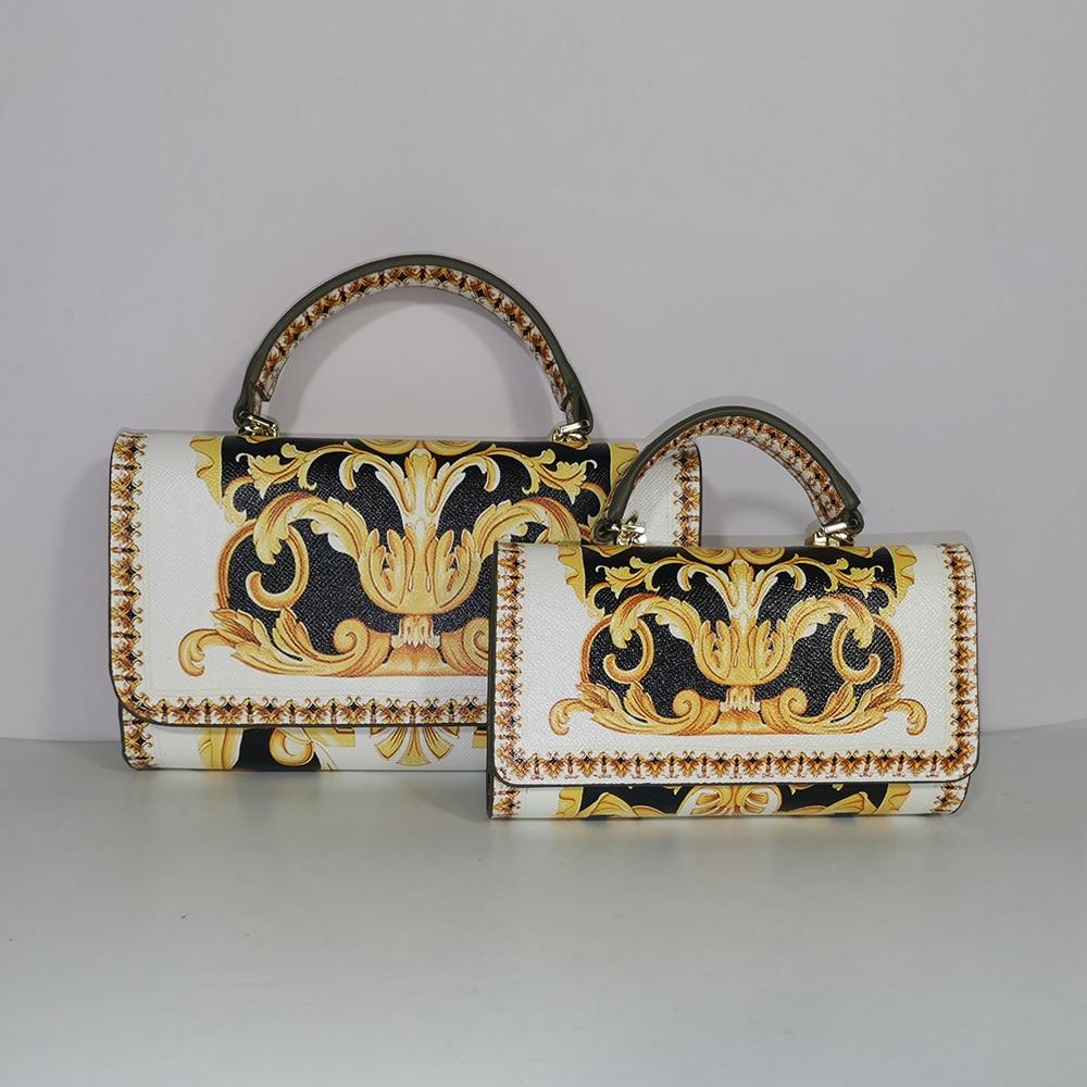 Handbag Party Bag All-match Messenger Bag Square Handbag Messenger Bag Flower Chain Mini Handbag Leopard Print Lion Tiger Party