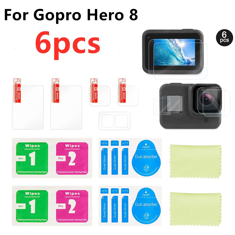 Protector de lente para GoPro Hero 6//5 Protector de pel/ícula HD Black de c/ámara deportiva TELESIN Paquete de 6 Protector de pantalla LCD