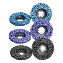 Promocja! 6 Pack 4-1 2 Cal x 7 8 Cal taśmy tarcze Stripping koła dla szlifierka kątowa czyste i usunąć farby powłoki rdzy tanie tanio Xzante NONE CN (pochodzenie) blue purple black nylon silicon carbide 115x22mm